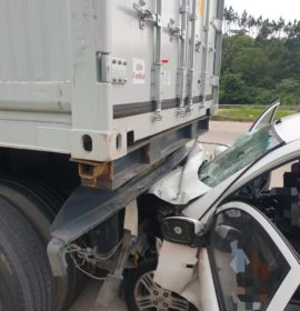 Fatal rear-end crash on the N3 Westbound, Hammarsdale in Kwazulu-Natal