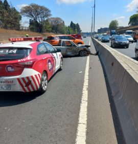 Truck and bakkie collide, leaving four injured in Bedfordview