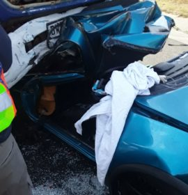 Driver critical following collision with a truck in the East Rand