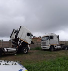 Two stolen trucks recovered in Umkomaas, suspect in court