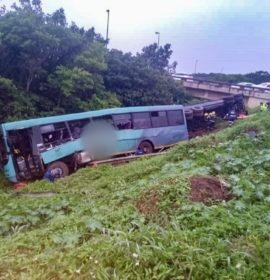 Two killed, several injured as bus and truck collides on the John Ross high way at the B10 intersection.